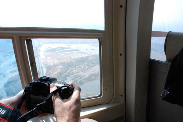 Vicotoria's Falls in elicottero