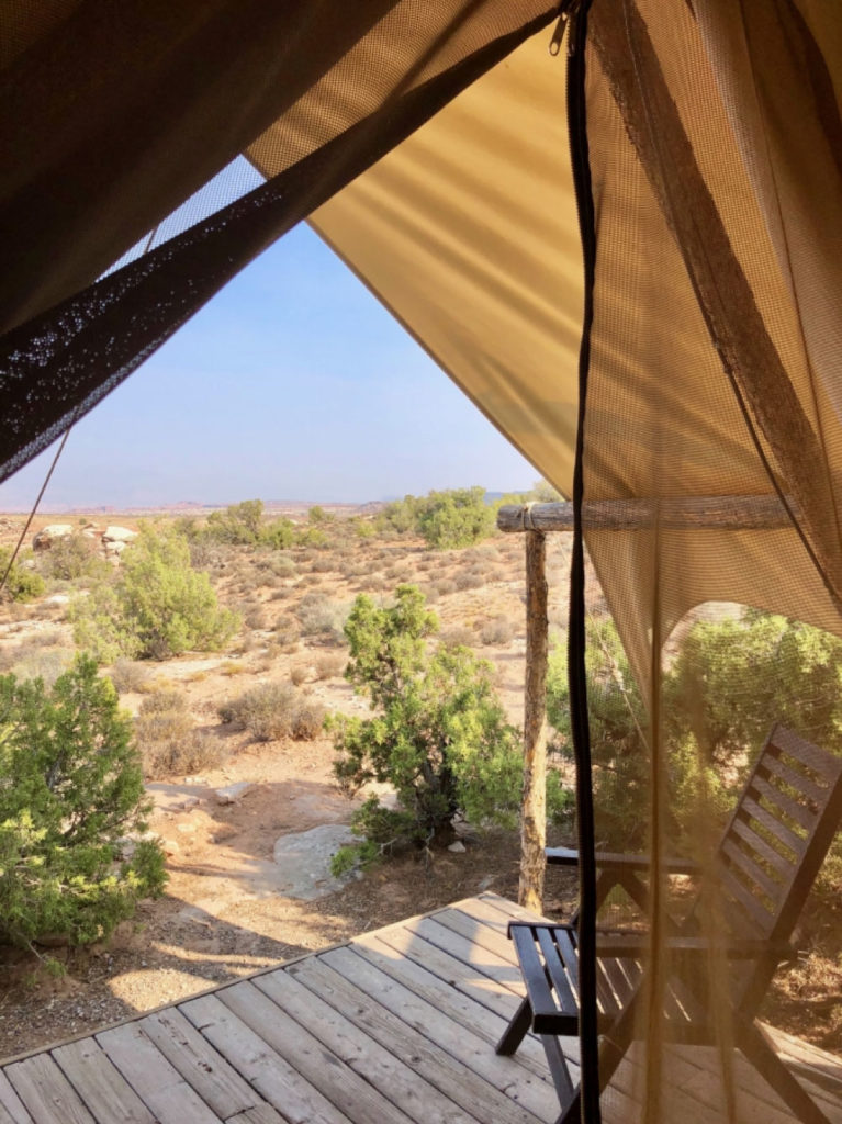 Under Canvas Glamping Patio