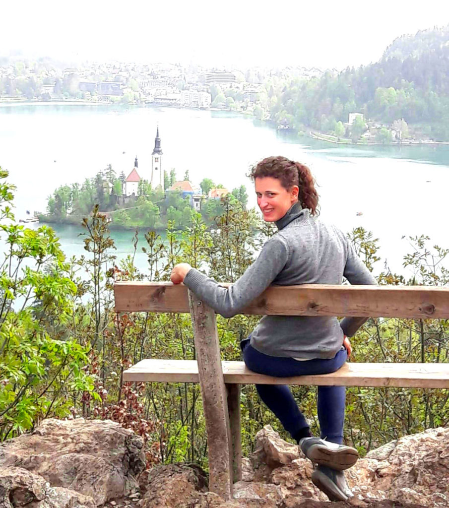 Sosta sul belvedere lago di Bled