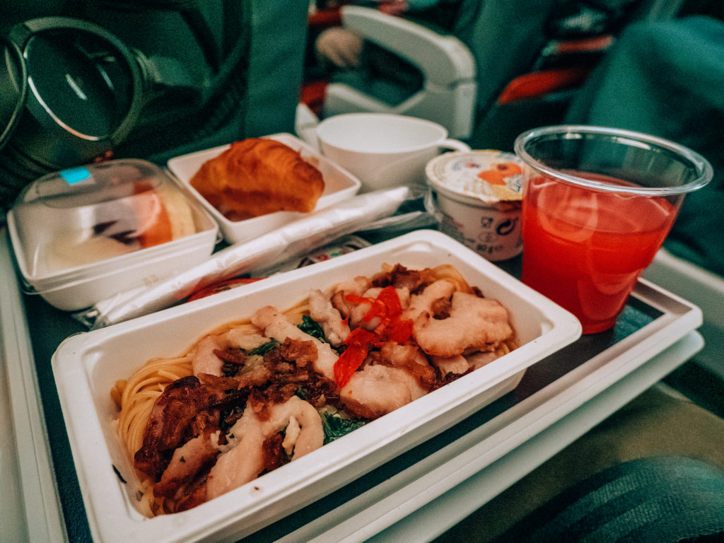 Singapore Airlines pasti a bordo
