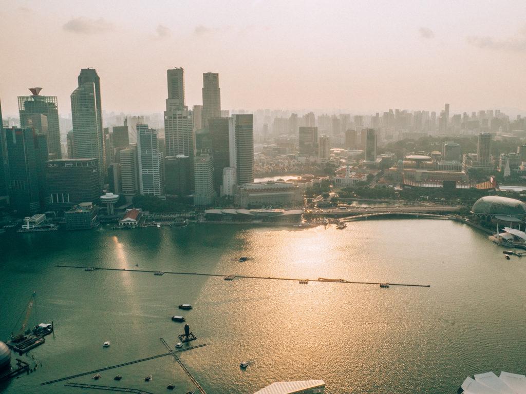 Atterraggio Aeroporto Singapore