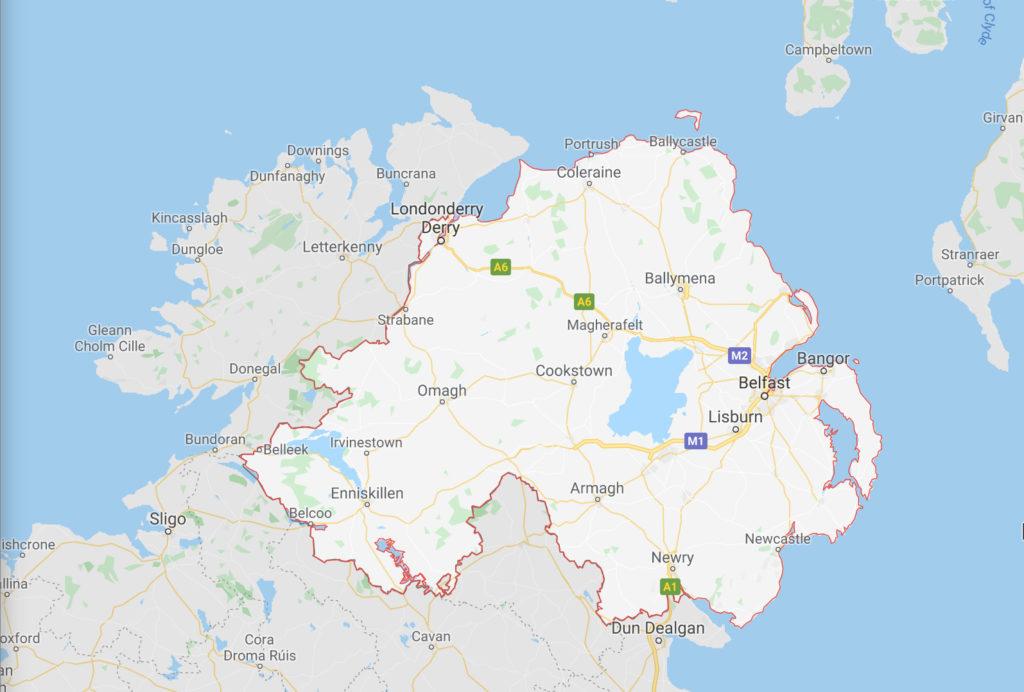 cartina Irlanda del Nord