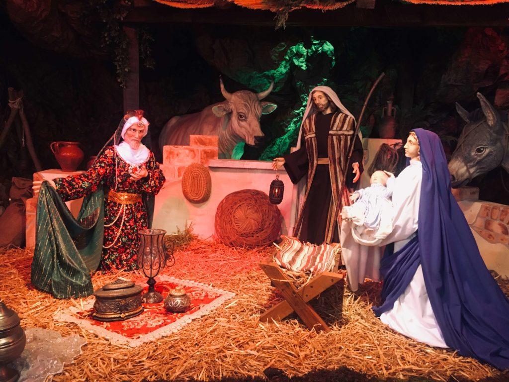 Il presepe vivente del mercatino di Natale