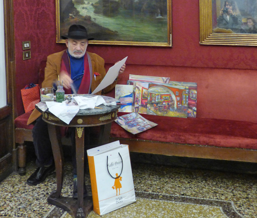 Il pittor dell'Antico Caffè Greco