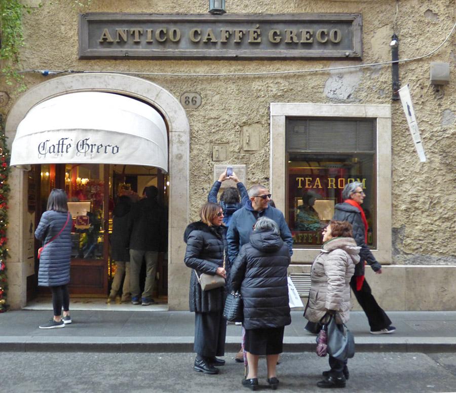 Caffè storici di Roma Antico Caffè Greco