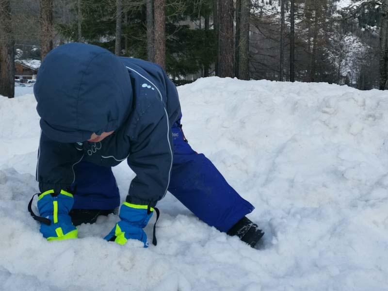 valigia per la neve bambini