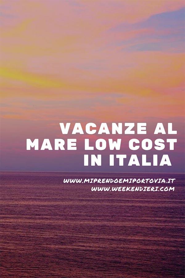 località di mare più economiche italia