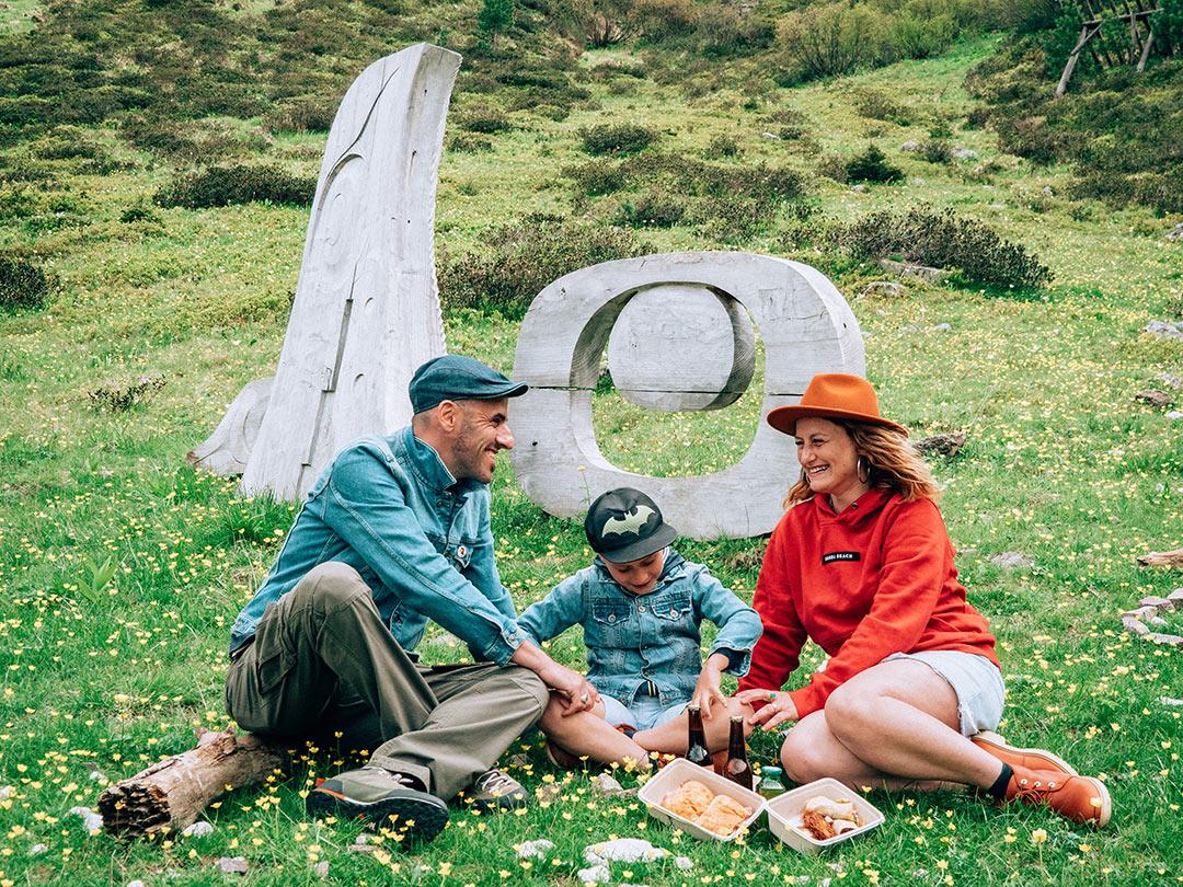 Val di Fiemme picnic ad arte