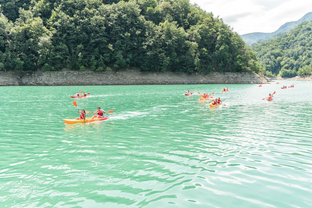 canoe escursione lago di ridracoli