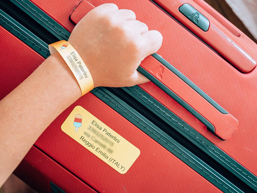 etichette per bagagli